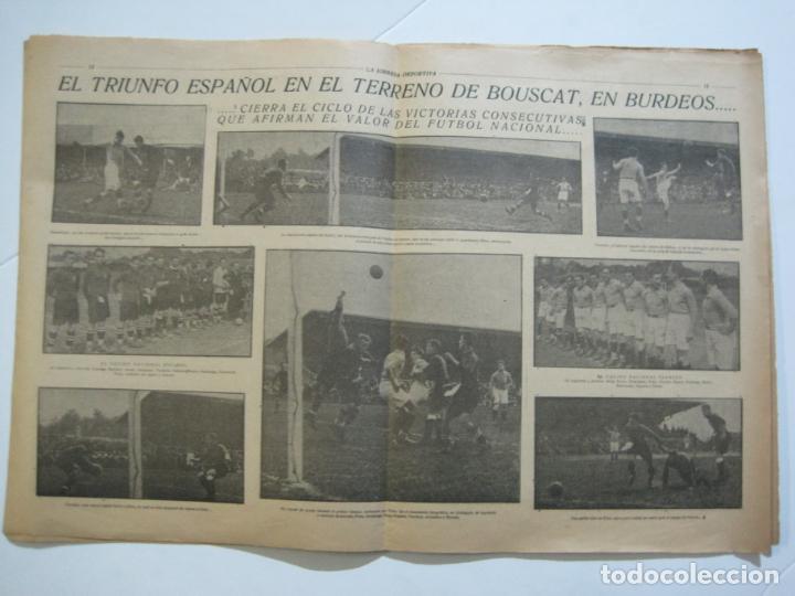 Coleccionismo deportivo: LA JORNADA DEPORTIVA-Nº 30-MAYO 1922-ESPAÑA VS FRANCIA-ALCANTARA-ZAMORA-FUTBOL-VER FOTOS-(V-22.464) - Foto 10 - 236028415
