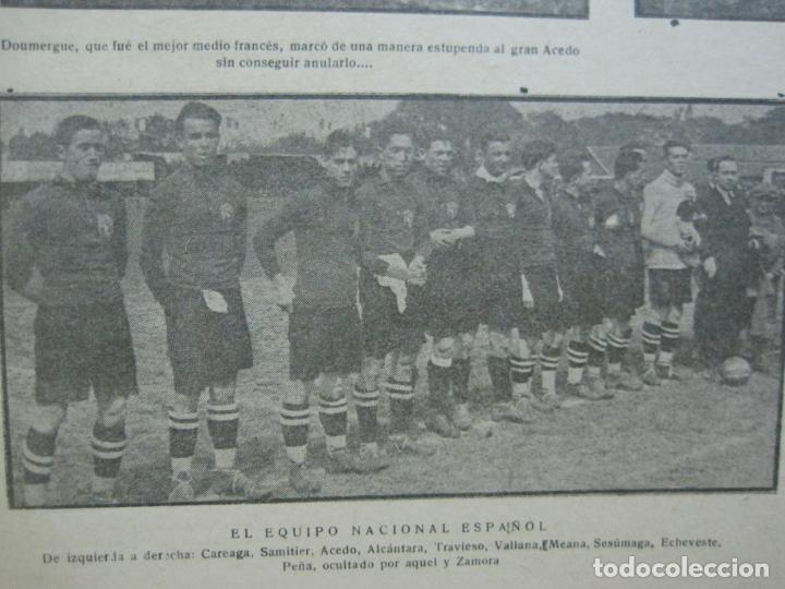 Coleccionismo deportivo: LA JORNADA DEPORTIVA-Nº 30-MAYO 1922-ESPAÑA VS FRANCIA-ALCANTARA-ZAMORA-FUTBOL-VER FOTOS-(V-22.464) - Foto 11 - 236028415