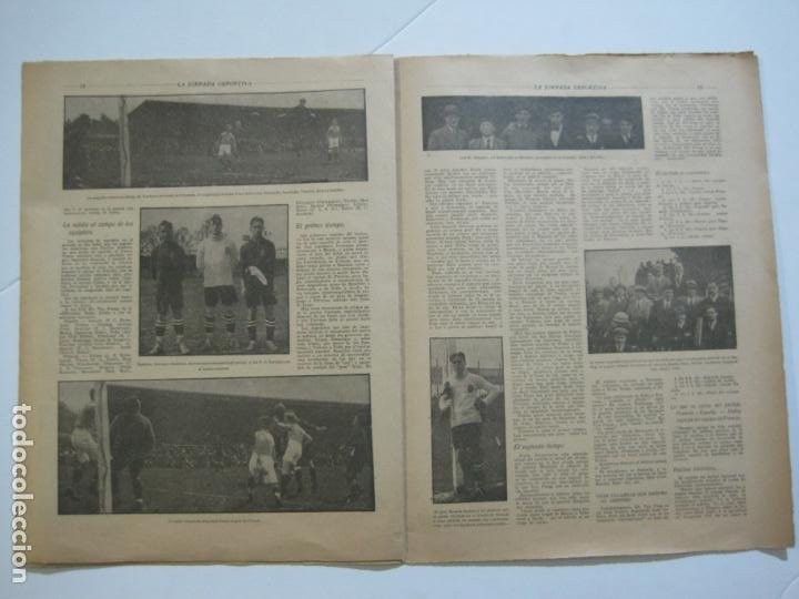 Coleccionismo deportivo: LA JORNADA DEPORTIVA-Nº 30-MAYO 1922-ESPAÑA VS FRANCIA-ALCANTARA-ZAMORA-FUTBOL-VER FOTOS-(V-22.464) - Foto 15 - 236028415