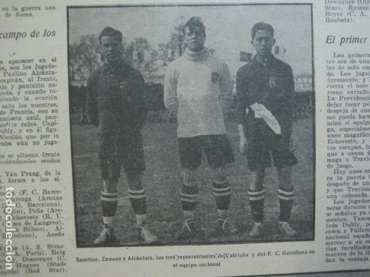 Coleccionismo deportivo: LA JORNADA DEPORTIVA-Nº 30-MAYO 1922-ESPAÑA VS FRANCIA-ALCANTARA-ZAMORA-FUTBOL-VER FOTOS-(V-22.464) - Foto 16 - 236028415