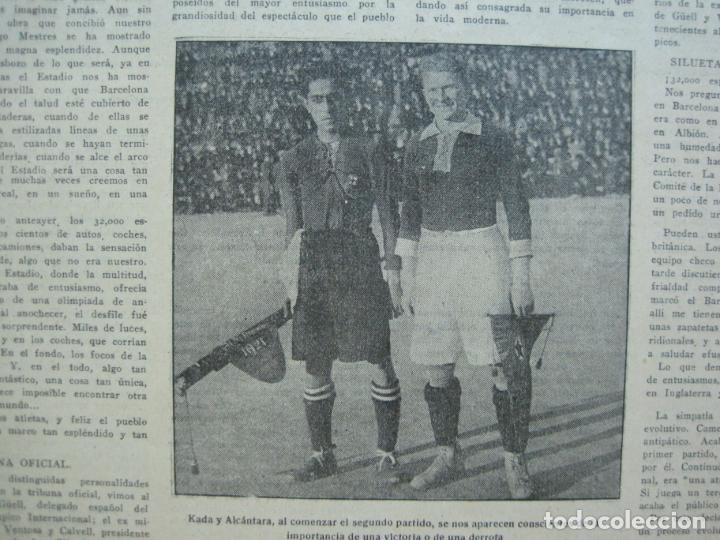 Coleccionismo deportivo: LA JORNADA DEPORTIVA-Nº 12-1921-SPARTA VS FC BARCELONA-ALCANTARA-ZAMORA-FUTBOL-VER FOTOS-(V-22.465) - Foto 9 - 236028910