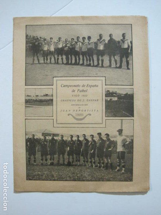Coleccionismo deportivo: LA JORNADA DEPORTIVA-CAMPEONATO ESPAÑA-VIGO 1922-ALCANTARA-ZAMORA-FUTBOL-VER FOTOS-(V-22.465) - Foto 2 - 236029295
