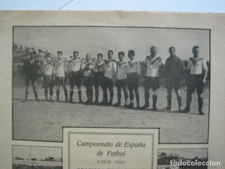 Coleccionismo deportivo: LA JORNADA DEPORTIVA-CAMPEONATO ESPAÑA-VIGO 1922-ALCANTARA-ZAMORA-FUTBOL-VER FOTOS-(V-22.465) - Foto 3 - 236029295