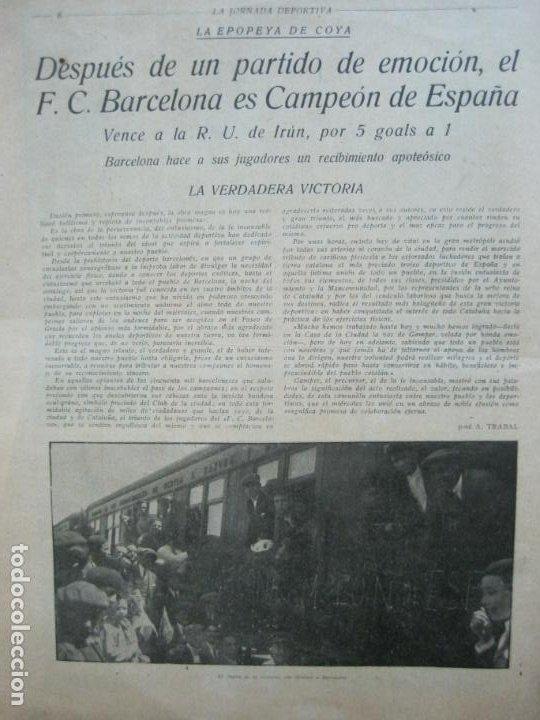 Coleccionismo deportivo: LA JORNADA DEPORTIVA-CAMPEONATO ESPAÑA-VIGO 1922-ALCANTARA-ZAMORA-FUTBOL-VER FOTOS-(V-22.465) - Foto 5 - 236029295