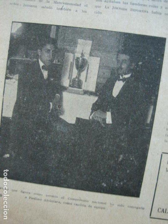Coleccionismo deportivo: LA JORNADA DEPORTIVA-CAMPEONATO ESPAÑA-VIGO 1922-ALCANTARA-ZAMORA-FUTBOL-VER FOTOS-(V-22.465) - Foto 19 - 236029295