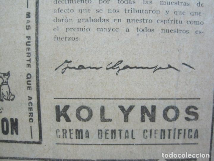Coleccionismo deportivo: LA JORNADA DEPORTIVA-CAMPEONATO ESPAÑA-VIGO 1922-ALCANTARA-ZAMORA-FUTBOL-VER FOTOS-(V-22.465) - Foto 23 - 236029295