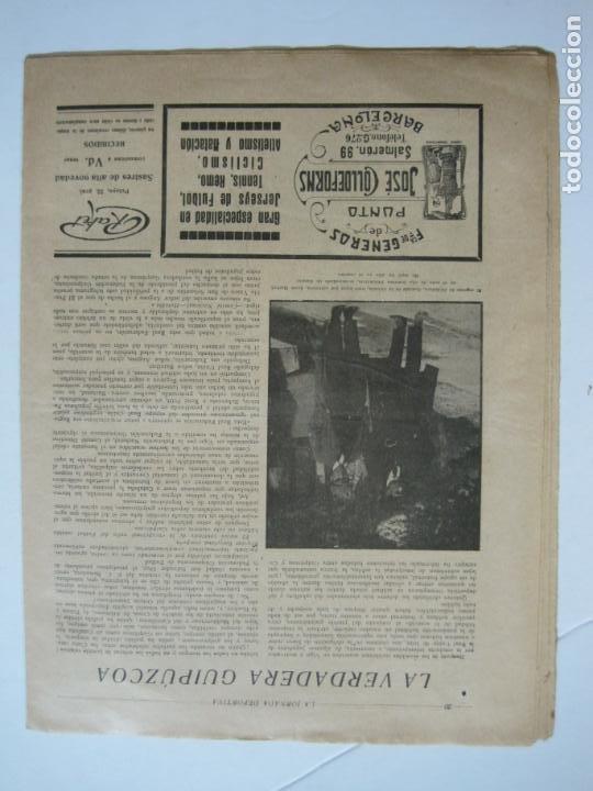 Coleccionismo deportivo: LA JORNADA DEPORTIVA-CAMPEONATO ESPAÑA-VIGO 1922-ALCANTARA-ZAMORA-FUTBOL-VER FOTOS-(V-22.465) - Foto 25 - 236029295