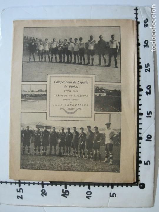 Coleccionismo deportivo: LA JORNADA DEPORTIVA-CAMPEONATO ESPAÑA-VIGO 1922-ALCANTARA-ZAMORA-FUTBOL-VER FOTOS-(V-22.465) - Foto 27 - 236029295
