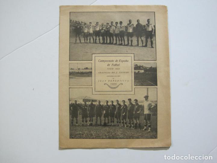 LA JORNADA DEPORTIVA-CAMPEONATO ESPAÑA-VIGO 1922-ALCANTARA-ZAMORA-FUTBOL-VER FOTOS-(V-22.465) (Coleccionismo Deportivo - Revistas y Periódicos - La Jornada Deportiva)