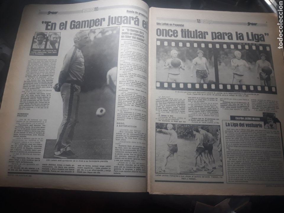 Coleccionismo deportivo: DIARIO SPORT N° 969 . 3 AGOSTO 1982 .HOY DEBUTA EL BARCA 83. SIMONSEN - MARADONA. POSTER ESPAÑOL 83 - Foto 3 - 236048750