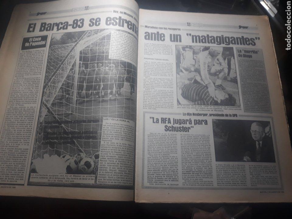 Coleccionismo deportivo: DIARIO SPORT N° 969 . 3 AGOSTO 1982 .HOY DEBUTA EL BARCA 83. SIMONSEN - MARADONA. POSTER ESPAÑOL 83 - Foto 4 - 236048750