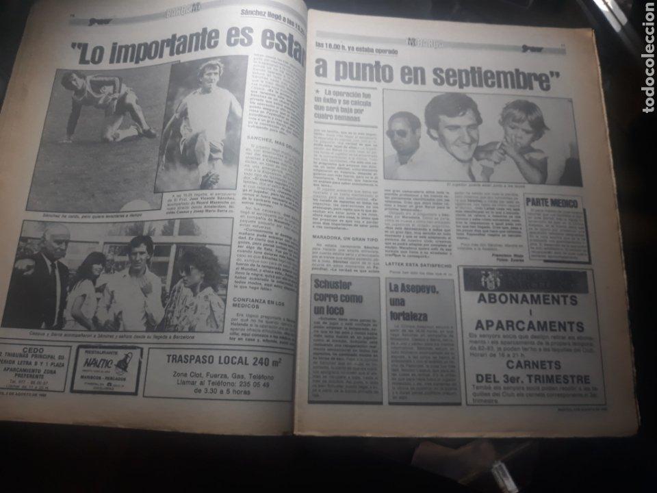 Coleccionismo deportivo: DIARIO SPORT N° 969 . 3 AGOSTO 1982 .HOY DEBUTA EL BARCA 83. SIMONSEN - MARADONA. POSTER ESPAÑOL 83 - Foto 5 - 236048750