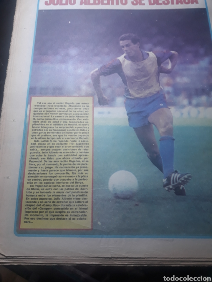 Coleccionismo deportivo: DIARIO SPORT N° 969 . 3 AGOSTO 1982 .HOY DEBUTA EL BARCA 83. SIMONSEN - MARADONA. POSTER ESPAÑOL 83 - Foto 8 - 236048750