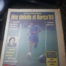 Coleccionismo deportivo: DIARIO SPORT N° 969 . 3 AGOSTO 1982 .HOY DEBUTA EL BARCA 83. SIMONSEN - MARADONA. POSTER ESPAÑOL 83. Lote 236048750