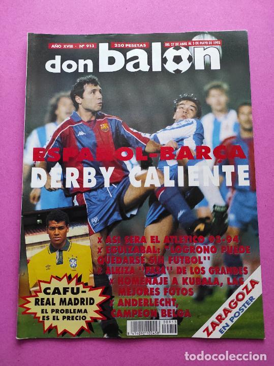 Coleccionismo deportivo: REVISTA DON BALON Nº 913 POSTER REAL ZARAGOZA 92/93 ALINEACION 1992/1993 - ALKIZA - ANDERLECHT - Foto 2 - 236074805