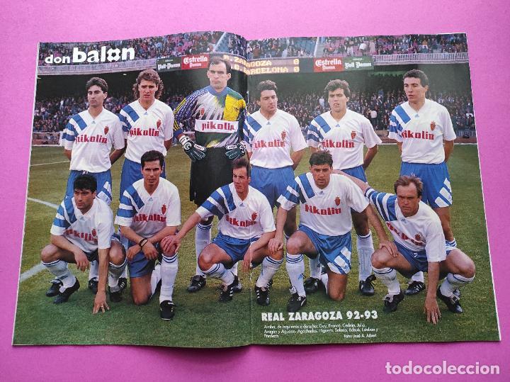 REVISTA DON BALON Nº 913 POSTER REAL ZARAGOZA 92/93 ALINEACION 1992/1993 - ALKIZA - ANDERLECHT (Coleccionismo Deportivo - Revistas y Periódicos - Don Balón)