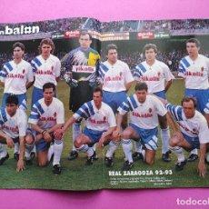 Coleccionismo deportivo: REVISTA DON BALON Nº 913 POSTER REAL ZARAGOZA 92/93 ALINEACION 1992/1993 - ALKIZA - ANDERLECHT. Lote 236074805