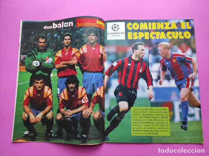 Coleccionismo deportivo: REVISTA DON BALON Nº 943 1993 SUPLEMENTO CHAMPIONS LEGUE 93-94 POSTER SELECCION ESPAÑOLA MUNDIAL USA - Foto 3 - 236075355