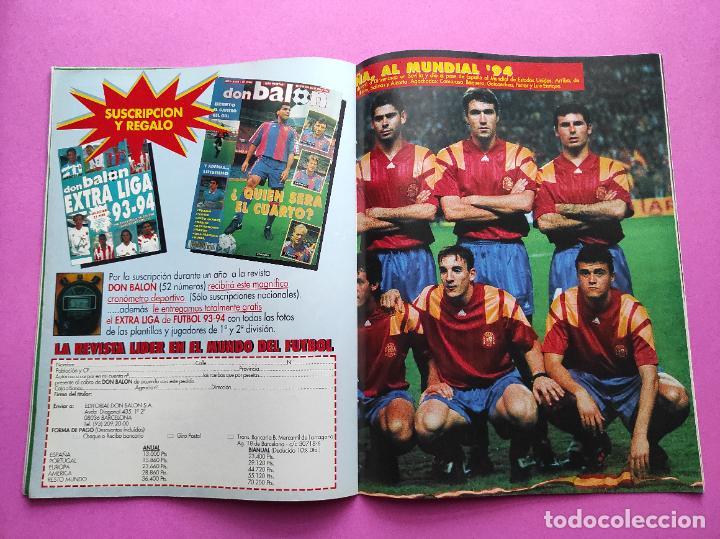 Coleccionismo deportivo: REVISTA DON BALON Nº 943 1993 SUPLEMENTO CHAMPIONS LEGUE 93-94 POSTER SELECCION ESPAÑOLA MUNDIAL USA - Foto 4 - 236075355