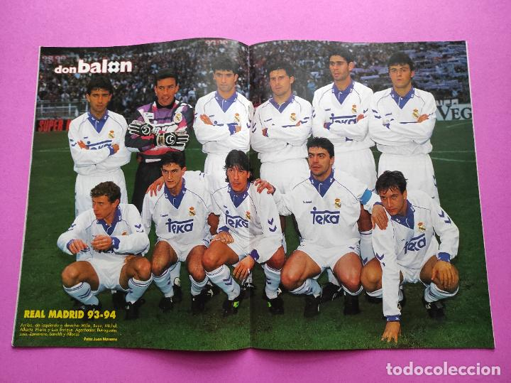 REVISTA DON BALON Nº 944 POSTER REAL MADRID 93/94 ALINEACION 1993/1994 - CAÑIZARES SELECCION (Coleccionismo Deportivo - Revistas y Periódicos - Don Balón)