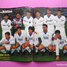 Coleccionismo deportivo: REVISTA DON BALON Nº 944 POSTER REAL MADRID 93/94 ALINEACION 1993/1994 - CAÑIZARES SELECCION. Lote 236075510
