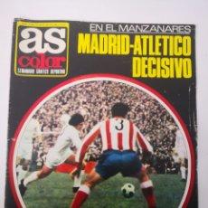 Coleccionismo deportivo: AS COLOR N° 51 - MAYO 1972. ATLÉTICO DE MADRID - REAL MADRID DECISIVO. Lote 236077510