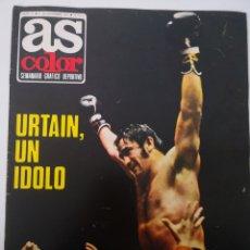 Coleccionismo deportivo: AS COLOR N°31 - DICIEMBRE 1971. POSTER CULTURAL LEONESA. URTAIN, UN ÍDOLO. SEMANARIO DEPORTIVO. Lote 236080875