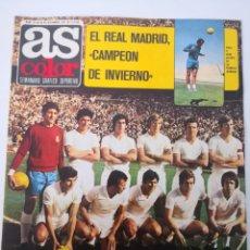 Coleccionismo deportivo: AS COLOR N° 32 - DICIEMBRE 1971. POSTER URTAIN. REAL MADRID CAMPEÓN DE INVIERNO. SEMANARIO DEPORTIVO. Lote 236081425
