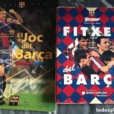 Collezionismo sportivo: ANTIGUAS FICHAS BARCELONA CON JUEGO EL JOC DEL BARÇA. Lote 236114710