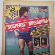 Coleccionismo deportivo: SUSPENSE MARADONA. DIARIO SPORT 1.546. MIÉRCOLES 7 MARZO 1984. FC BARCELONA. Lote 236128350
