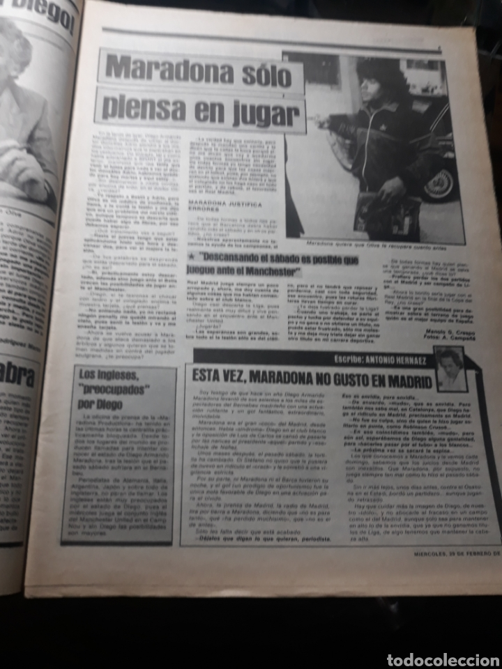 Coleccionismo deportivo: SPORT N° 1539 .29 FEBRERO 1984 . DEBUTA JULIO ALBERTO. MARADONA Y LOS MÉDICOS. - Foto 3 - 236150410