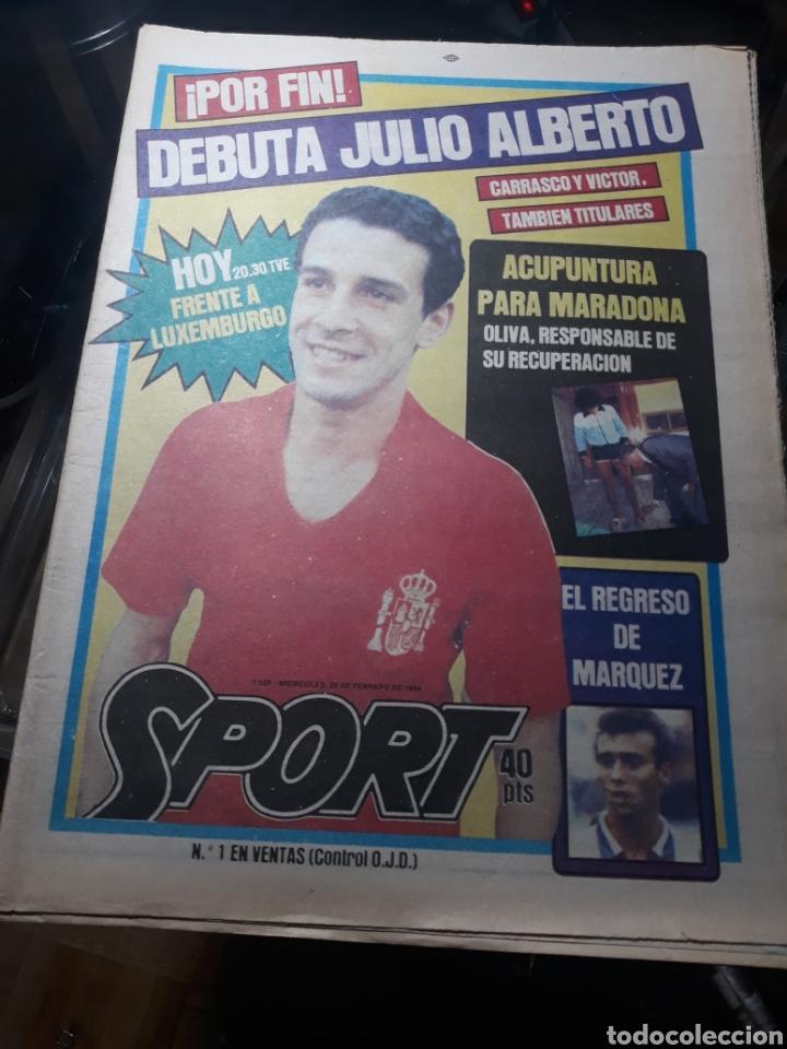 SPORT N° 1539 .29 FEBRERO 1984 . DEBUTA JULIO ALBERTO. MARADONA Y LOS MÉDICOS. (Coleccionismo Deportivo - Revistas y Periódicos - Sport)