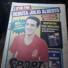 Coleccionismo deportivo: SPORT N° 1539 .29 FEBRERO 1984 . DEBUTA JULIO ALBERTO. MARADONA Y LOS MÉDICOS.. Lote 236150410