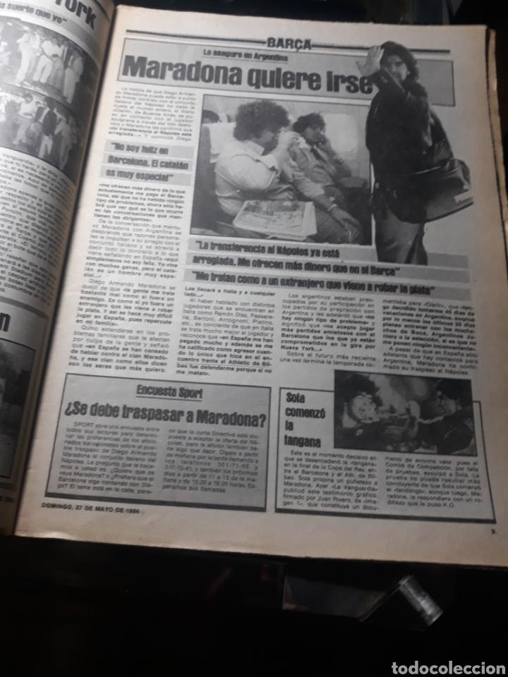 """Coleccionismo deportivo: SPORT N° 1626 .27 MAYO 1984. MARADONA """" QUIERO IRME"""". SUIZA 0 ESPAÑA 4 - Foto 4 - 236152700"""