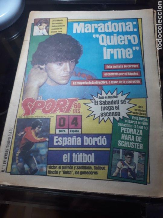 """SPORT N° 1626 .27 MAYO 1984. MARADONA """" QUIERO IRME"""". SUIZA 0 ESPAÑA 4 (Coleccionismo Deportivo - Revistas y Periódicos - Sport)"""