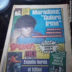 """Coleccionismo deportivo: SPORT N° 1626 .27 MAYO 1984. MARADONA """" QUIERO IRME"""". SUIZA 0 ESPAÑA 4. Lote 236152700"""