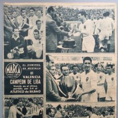 Coleccionismo deportivo: DIARIO MARCA 1944 VALENCIA CAMPEON LIGA REAL MADRID BARCELONA MURCIA VUELVE A PRIMERA PERFECTA CONSE. Lote 236322510