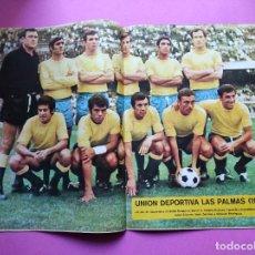 Coleccionismo deportivo: REVISTA AS COLOR Nº 25 POSTER UD LAS PALMAS 71/72 ALINEACION LIGA 1971/1972 - CARRASCO BOXEO. Lote 236329095