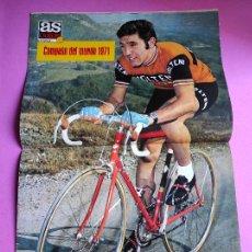 Coleccionismo deportivo: REVISTA AS COLOR Nº 27 1971 POSTER EDDY MERCKX CAMPEON MUNDO CICLISMO 71 - GENTO - DIDI. Lote 236330375