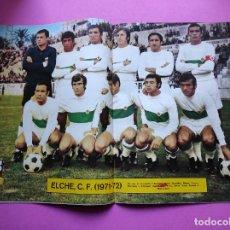 Coleccionismo deportivo: REVISTA AS COLOR Nº 28 POSTER ELCHE CF 1971/1972 ALINEACION 71/72 - MARTINEZ VALERO. Lote 236331180