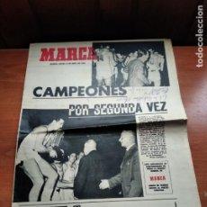 Coleccionismo deportivo: MARCA - JUEVES 15 ABRIL 1965 - SUPLEMENTO REAL MADRID BALONCESTO CAMPEONES DE EUROPA - HUECOGRABADO. Lote 236343950