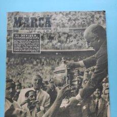 Coleccionismo deportivo: PERIODICO MARCA SEVILLA FC CAMPEON COPA DEL GENERALISIMO 1947/1948 - CELTA 47/48. Lote 236352950