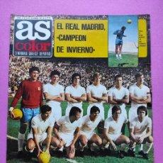 Coleccionismo deportivo: REVISTA AS COLOR Nº 32 1971 REAL MADRID CAMPEON INVIERNO LIGA 71/72 - POSTER URTAIN - TORNEO NAVIDAD. Lote 236489890