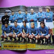 Coleccionismo deportivo: REVISTA AS COLOR Nº 33 POSTER REAL OVIEDO 1971/1972 ALINEACION LIGA 71/72 - JOSE MARIA VELASCO. Lote 236490110