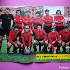 Coleccionismo deportivo: REVISTA AS COLOR Nº 35 POSTER RC MALLORCA 1971/1972 ALINEACION LIGA 71/72 JOSE FANDOS BERNARDO SANS. Lote 236490330