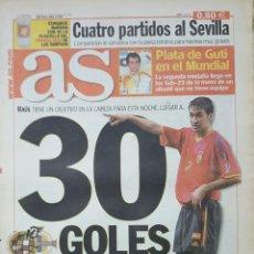 Coleccionismo deportivo: DIARIO AS - 12/10/2002 - ESPAÑA VS IRLANDA DEL NORTE - EUROCOPA 2004 - ALBACETE. Lote 236499450
