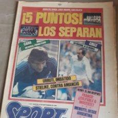 Coleccionismo deportivo: SPORT N°1747.SEPTIEMBRE 1984 .BARCA LÍDER, MADRID CASI COLISTA. 5 PUNTOS LOS SEPARAN , EN 3 JORNADAS. Lote 236499785