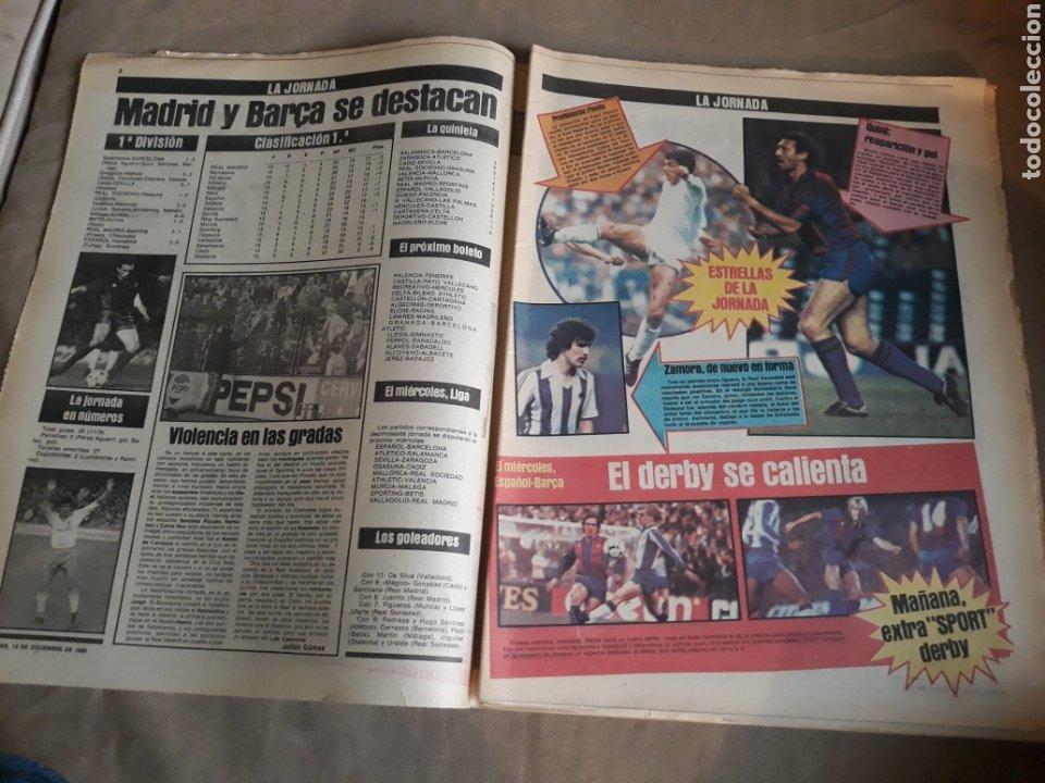 Coleccionismo deportivo: SPORT N° 1463. 12 DICIEMBRE 1983 SALAMANCA 1 BARCA 3 .ESPAÑOL 2 VALLADOLID 0. - Foto 2 - 236501400