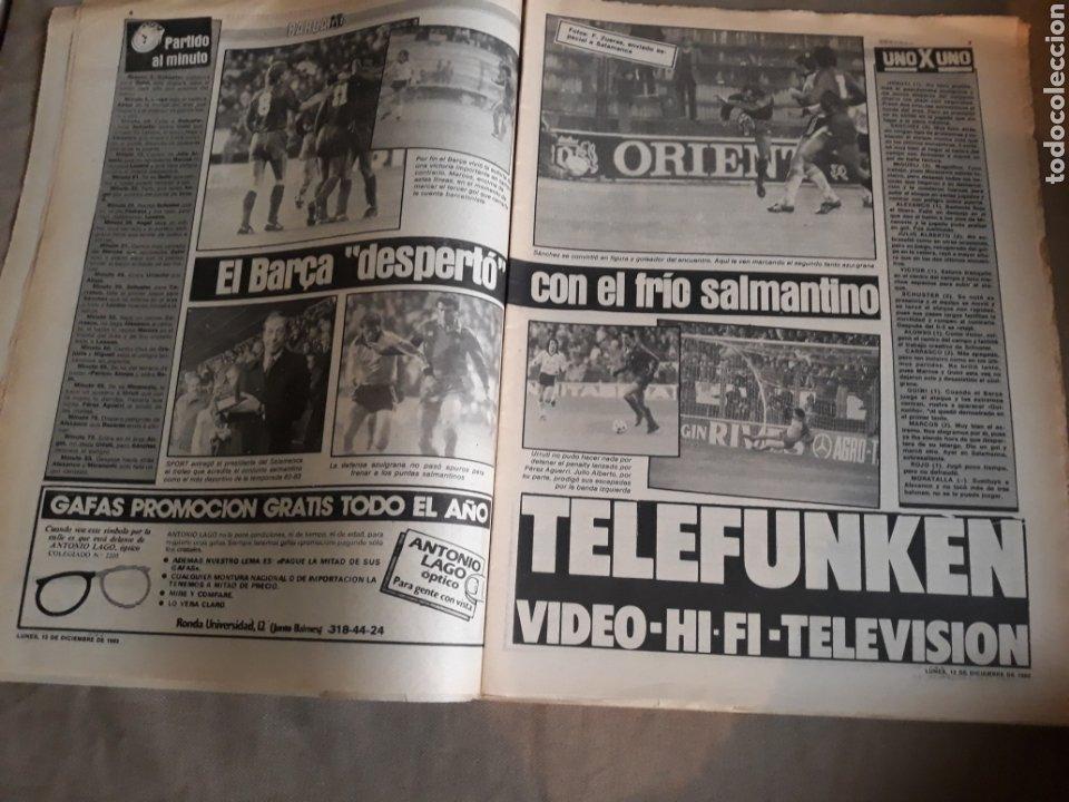 Coleccionismo deportivo: SPORT N° 1463. 12 DICIEMBRE 1983 SALAMANCA 1 BARCA 3 .ESPAÑOL 2 VALLADOLID 0. - Foto 4 - 236501400