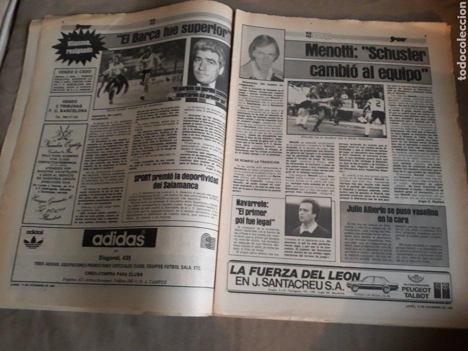 Coleccionismo deportivo: SPORT N° 1463. 12 DICIEMBRE 1983 SALAMANCA 1 BARCA 3 .ESPAÑOL 2 VALLADOLID 0. - Foto 5 - 236501400